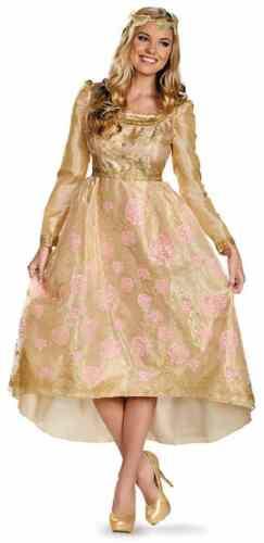 Aurora Coronation Gown Disney Maleficent Fancy Dress Up Halloween Adult Costume