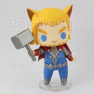 "Super Hero The Avengers Cutie Dog Cosplay Thor 8cm / 3.2"" PVC Figure NO Box"