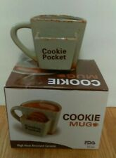 Details about Ceramic Panda Bear Hug Coffee Cup Mug w Cookie Biscuit Holder Pocket Pouch
