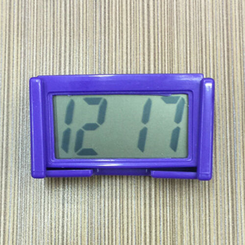 Mini Autouhr Digital LCD KFZ Zeit Datum Anzeige Uhr Armaturenbrett LKW Auto