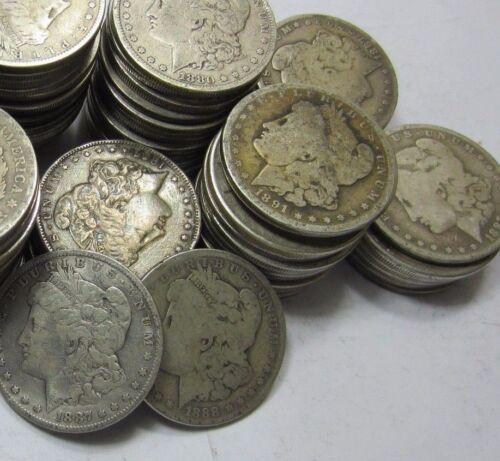 1 PRE 1921 Morgan Dollar //// VF-Fine //// Random Date//Mint //// 90/% Silver