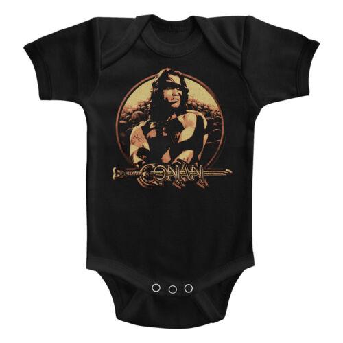 Conan The Barbarian Movie Sheild Baby Romper Onezies 6-24 Month Kids Movie