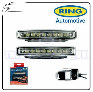 ring car cruise lite led ice white daytime running lights styling lamps brl0379 ebay. Black Bedroom Furniture Sets. Home Design Ideas