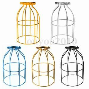 E27-Industrial-Vintage-Bulb-Wire-Cage-Clamp-On-Metal-Lamp-Guard-Light-Lampshade