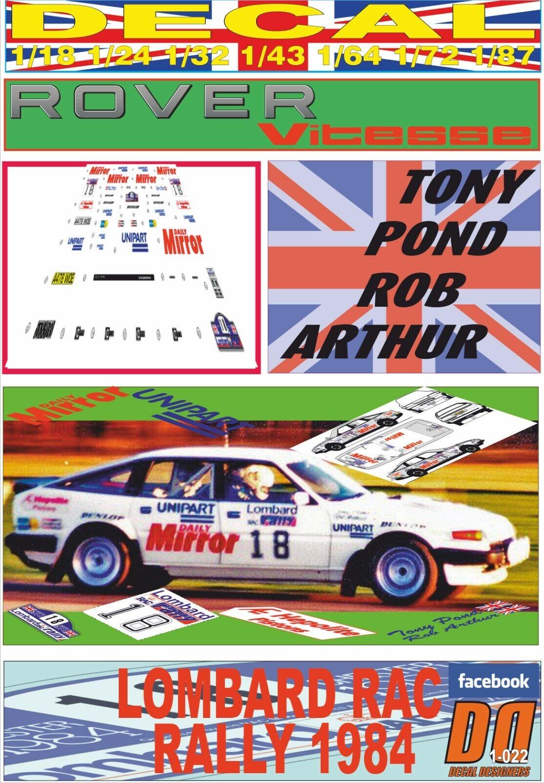 DECAL ROVER SD1 VITESSE TONI POND RAC rally 1984 DnF (08)
