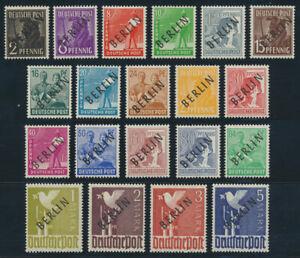 BERLIN, MiNr. 1-20 mit 17 a, tadellos postfrisch, gepr. Schlegel, Mi. 480,-