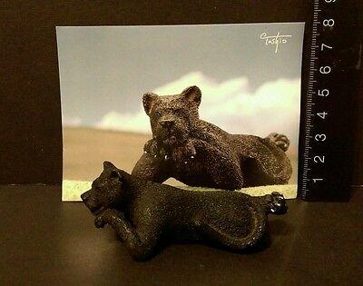 RARE Yujin Asakuma Toshiro Wild Big Cat BLACK PANTHER JAGUAR Figure