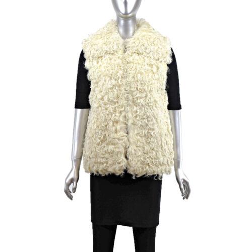 Curly Lamb Vest- Size XS (Vintage Furs)