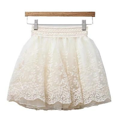 Sexy Girl's Cute Lace Floral Design Mini Short Skirts Over Knee Elastic Waist X1