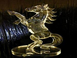 Clear-Crystal-Glass-Horse-Statue-Standing-Figure-decor-20-cm-Gift-Box-Xmas-UK