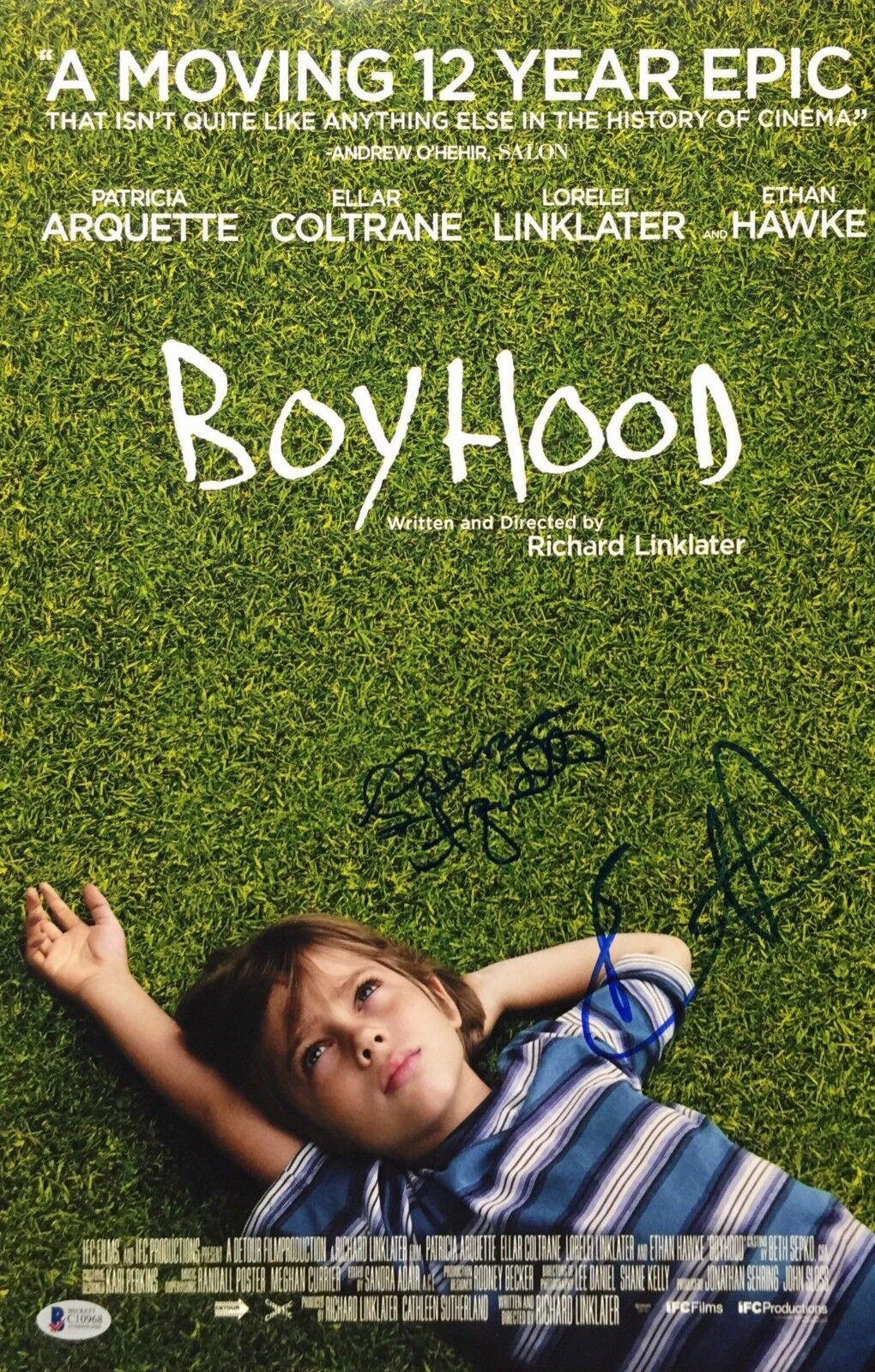 Ethan-Hawke-And-Patricia-Arquette-Signed-Boyhood-12x18-Photo-BAS-C10968