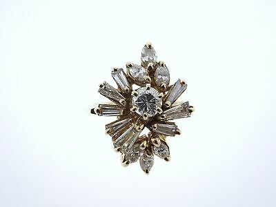 1.28 ct Diamond 14kt Yellow Gold Art Deco/Retro WWII/WW2 Era Ring