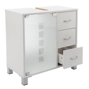 Waschtischunterschrank Mit 3 Schubladen In Weiss Schrank