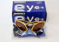 Briko Jumper Sunglasses Made In Italy Yellow/gold Cipollini Pantani