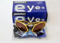 Briko Jumper Sunglasses Made In Italy Yellow/gold Cipollini Pantani