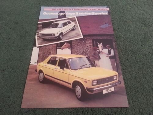 UK COLOUR LEAFLET BROCHURE 1984 1985 YUGO Zastava 311 511 513 L 513 GL