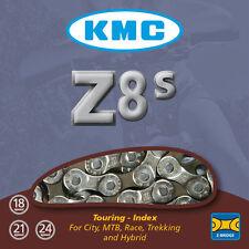 KMC Z8s Half Silver Bike Chain 6 - 12 - 18 - 21 - 24 Speed Cycle (replaces Z51s)