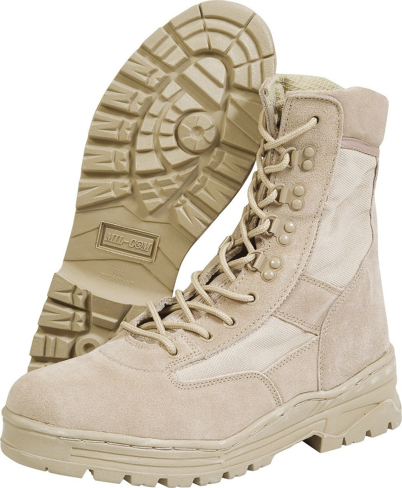 Mil-Com Desert Patrol Boots, Sand,  Size 4 to 13