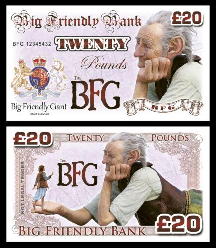 Bfg-big friendly giant billets de banque de fantaisie//fête sac remplissage
