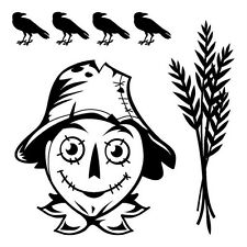 Happy HALLOWEEN SCARECROW clear acrylic RUBBER STAMP's NEW! crow's Thanksgiving