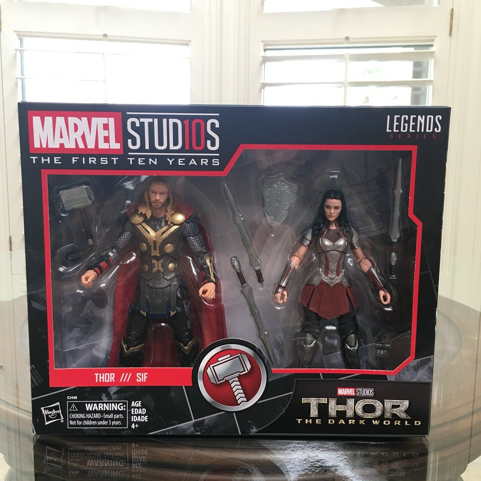 Marvel Leyendas Studios Thor & Lady Sif MCU 10th aniversario 2 Pack Mundo Oscuro