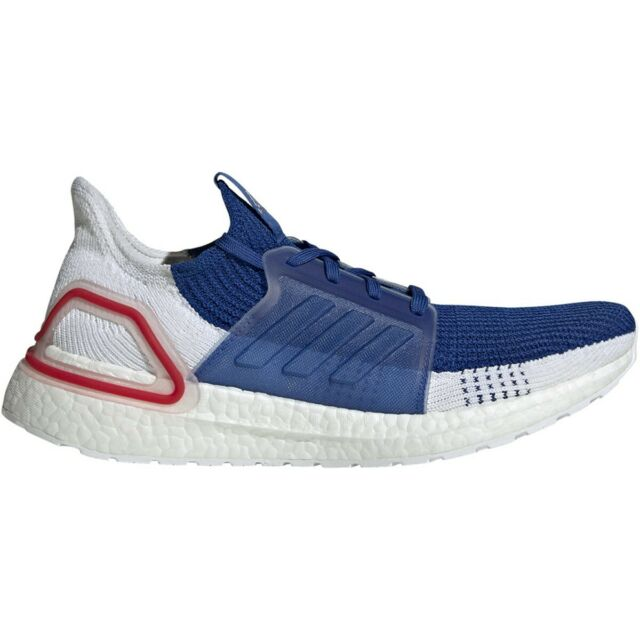 adidas Mens ULTRABOOST 19 M BLUE WHITE RED SHOE EF1340