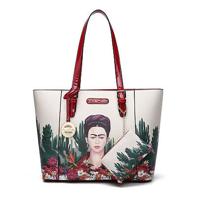 Frida Kahlo Suede Tote Shopping Bag