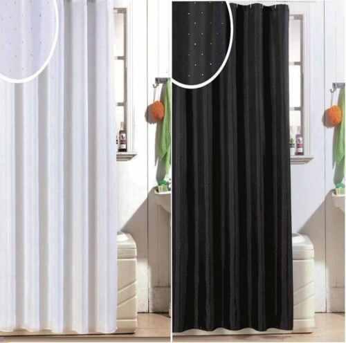 LUXE moderne strass salle de bain baignoire douche paillettes Rideau Rideaux avec Crochets