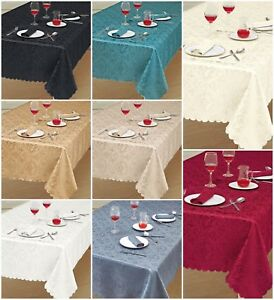 Charmant Image Is Loading Premium Luxury Damask Fabric TableCloth All Sizes And