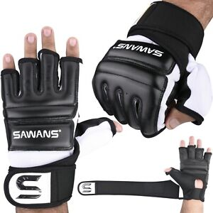 EVO Leather MMA Gloves body Combat Gel Boxing Punch Bag Martial Arts Karate Mitt