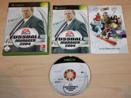 1 von 1 - Fußball Manager 2004 (Microsoft Xbox, 2003, DVD-Box)