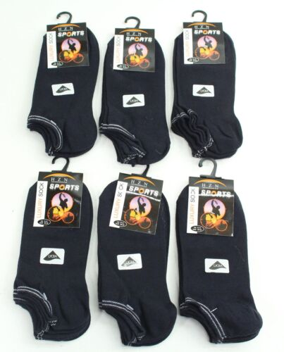 NEW 18 x Pairs Ladies Luxury Sports Trainer Liner Socks Navy Blue Size 3.5-8