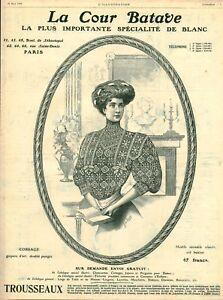 Publicite-ancienne-mode-la-cour-Batave-corsage-1908-issue-de-magazine