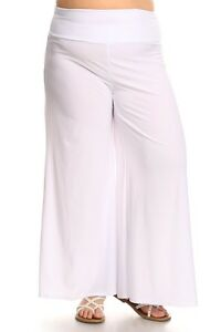 huge inventory 100% satisfaction guarantee special for shoe Details about New Women's Plus Size White Solid Palazzo Pants Sizes 3X USA  MADE