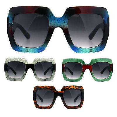 Womens Thick Plastic Oversized Butterfly Designer Fashion Diva Sunglasses New