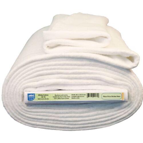 """White Cotton Batting with Stabilizing Scrim Binder 96/"""" Wide Quilt Hand Machine"""