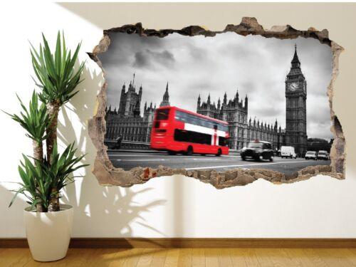 25077132 Schwarz und Weiß London Mit Roter Bus Wandaufkleber Wandbild London