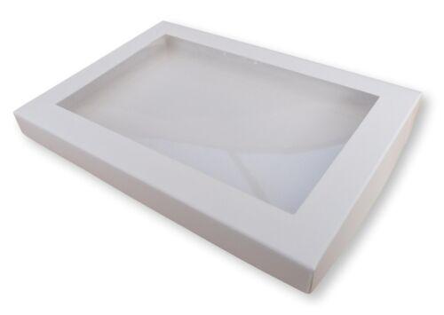 cartes de vœux etc. DVDs livres cadeaux 50 Blanc A5 fenêtre Boîtes