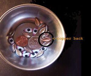 Gods' Eyes (Netra) for Hindu Idols - extra small, copper back (abt. 13mm x 6mm)