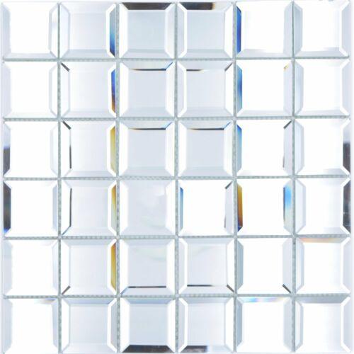 Spiegel Glas Mosaik Metro Fliesen Reflexion QuadratDisco Restaurant Bad Küche