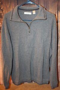 Turnbury-Gray-Thick-Cotton-Medium-1-4-Zip-Men-039-s-Shirt