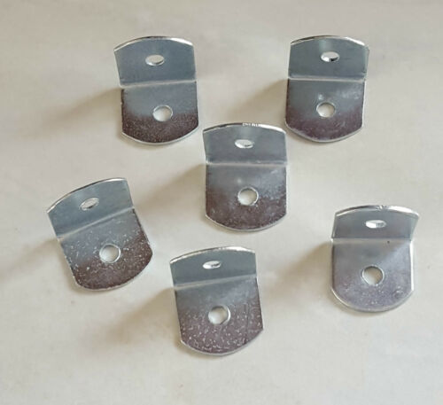 SMALL STEEL RIGHT ANGLE BRACKET x6 19mm L Shape Corner Repair Brace