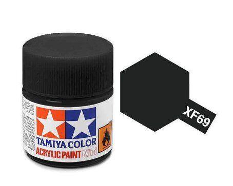 Tamiya 81769 XF-69 NATO Black 10ml Acrylic Flat Paint Color Mini Bottle Model