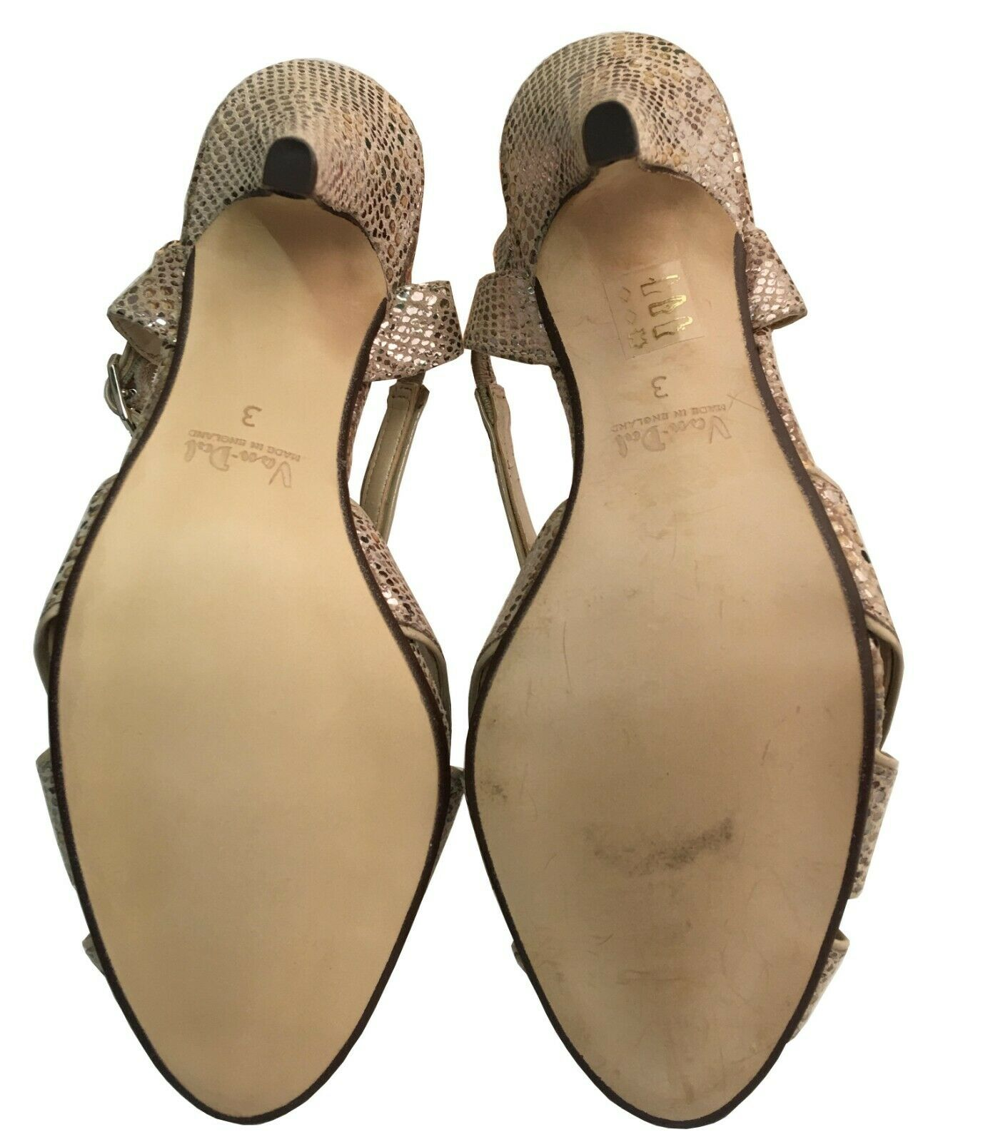 Ladies Van Dal Rushall Metallic Snake Snake Snake   Nude Print UK Size 3, 5, 6 D Fitting 335b9e