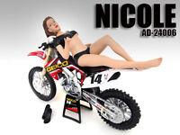 Model Nicole Figurine Figure For 1/12 Scale Motorcycles American Diorama 24006