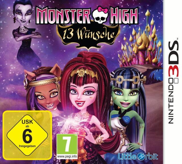 Monster High: 13 Wünsche, Nintendo 3DS Spiel, wie neu