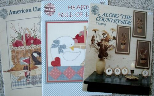 3 Designs by Gloria & Pat Americana Classic Country Cross Stitch Booklets