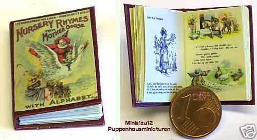 1202# Livre pour enfants avec Engl enfants Rimes-Nostalgie sortie-Poupée M 1zu12