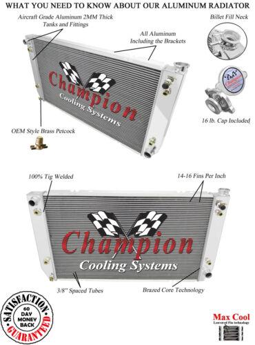 1994 95 96 97 98 99 2000 C//K Trucks 3 Row RR Aluminum Champion Radiator