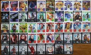 Komplett-Satz-Star-Wars-alle-48-Karten-Kaufland-Sammelbilder-NO-HOLO